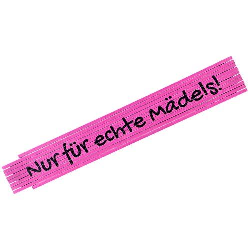 Zollstock als Geschenk für Freundin oder Mama (Pink, 2 Meter) - Meterstab nur für echte Mädels - Maßstab für Mutter - Witzige Geschenke für Frauen zu Weihnachten, Geburtstag und Muttertag
