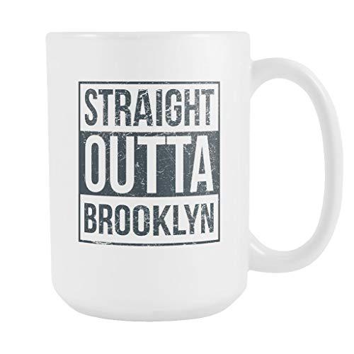 N\A Taza de café de Baloncesto Straight Outta Brooklyn, 15 onzas