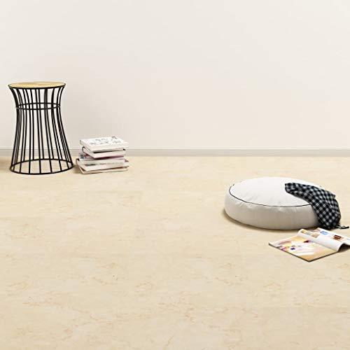 Tidyard PVC Laminat Dielen Selbstklebend rutschfest Wasserfest Vinylboden Bodenbelag Designboden Vinyl Boden Dielen Planken 5,11m² Beige