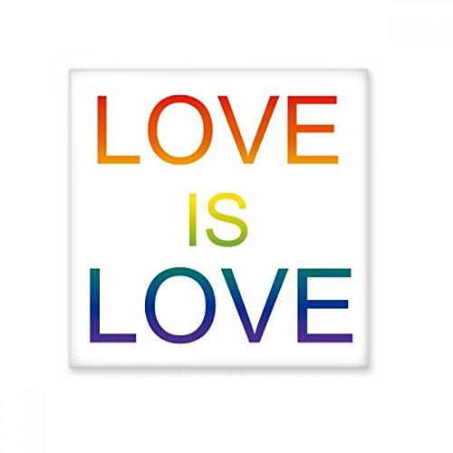 DIYthinker LGBT Regenboog Vlag Liefde is Liefde Keramische Bisque Tegels Badkamer Decor Keuken Keramische Tegels Wandtegels Medium