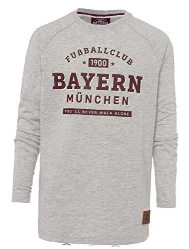 FC Bayern München Longsleeve Fußballclub Kids grau-me, 116 FCB Sports Tshirt, FCB, Shirt, Langarmshirt (116)