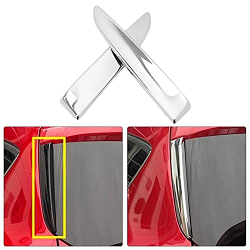 YIYEBAOFU Big HaHa - Cubierta de alerón para ventana trasera de Ford Escape Kuga MK2 2013-2019, cromada, para decoración de postes de pilar, color plateado