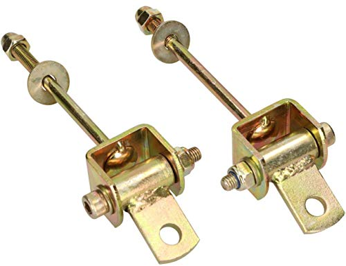 KOTARBAU Gancho para columpio dispositivo de juego con cojinete de bisagra 118 mm 2 piezas accesorio para columpio gancho para hamaca acero galvanizado dorado
