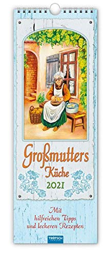 """Maxi-Streifenkalender """"Großmutter´s Küche"""" 2021: 15 x 42 cm, mit hilfreichen Tipps und leckeren Rezepten"""
