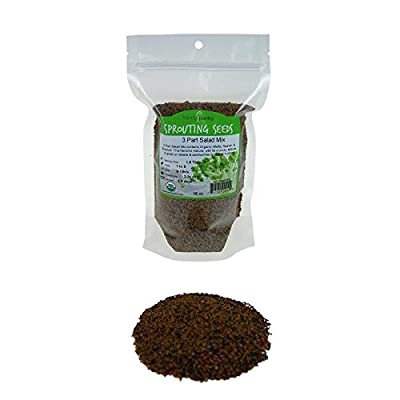 3 Part Salad Sprout Seed Mix - Handy Pantry Brand: Certified Organic Sprouting Seeds: Radish, Broccoli & Alfalfa: Cooking, Food Storage or Delicious Salad Sprouts