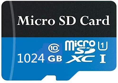 128 GB/256 GB/400 GB/512 GB/1024 GB. Scheda di memoria Micro SD ad alta velocità classe 10 con adattatore incluso (1024 GB-3)