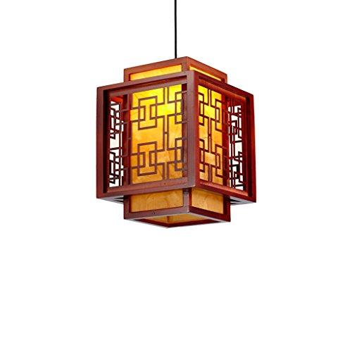 MEGSYL Chinese massief houten kroonluchter, antieke schapenvacht plafondlamp, eetkamer hal veranda balkon kroonluchter, Chinese stijl klassieke lampen