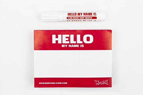 Red Hello My Name Is Stickers