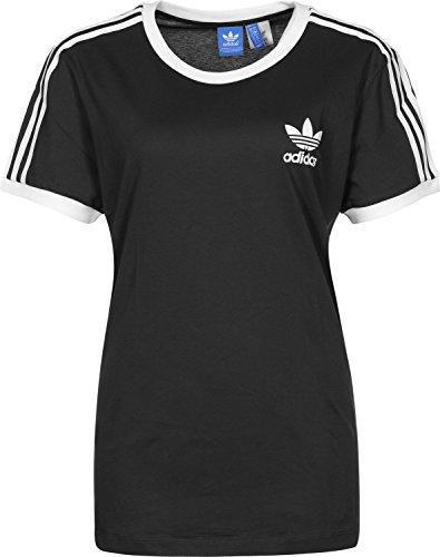adidas Damen 3-Streifen T-Shirt, Black, 38