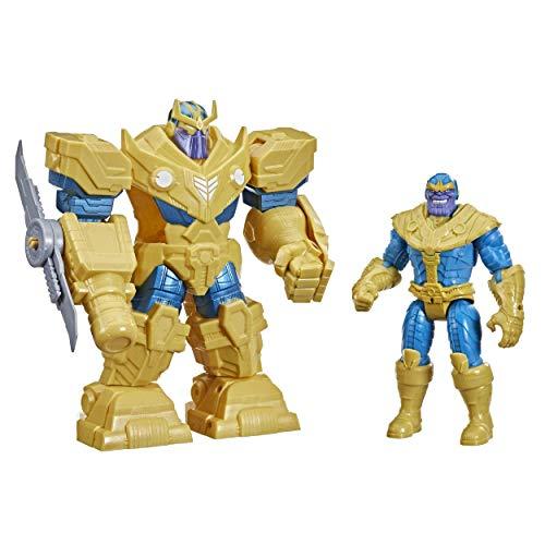 Marvel Avengers - Figura Mech Strike de Thanos de 22 cm - Armadura Infinity y Accesorio de Arma Blanca - Edad: 4+