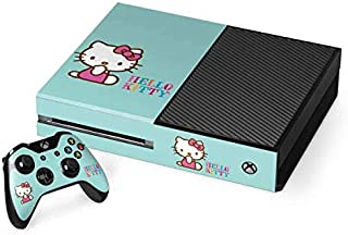 Skinit Decal Gaming Skin for Xbox One Console and Controller Bundle - Officially Licensed Sanrio Hello Kitty Blue Background Design