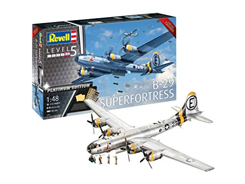 Revell 03850 B-29 Super Fortress Platinum Edition 1:48 Scale True-to-Original Model kit for Experts, Unpainted