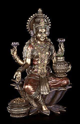 Indische Götter Figur - Lakshmi | Buddha Hindu Statue Gottheit Veronese Bronze-Optik