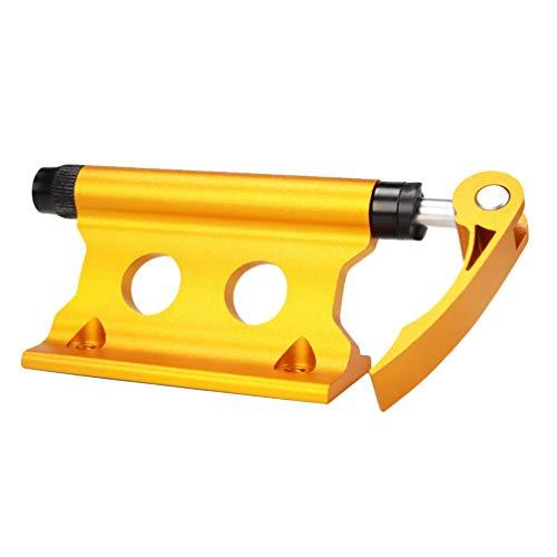 BESPORTBLE Mountainbike Vorderradhalter Fahrradblock Gabelhalterung Fahrradgabelhalterung für Outdoor-Reiseartikel (Gelb)