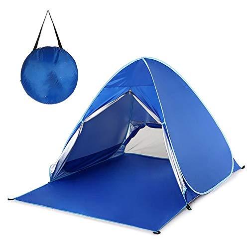 QXinjinXZP Tienda Impermeable Tienda automática UV Protección al Aire Libre Tienda de campaña inmediata Pop Up Playa Tienda de campaña Ligera Sun Refugio Carpas Toldo Cabana (Color : Deep Blue)