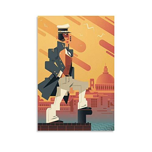 Xiangshui Corto Maltesse - Stampa artistica su tela e stampa artistica da parete, 60 x 90 cm