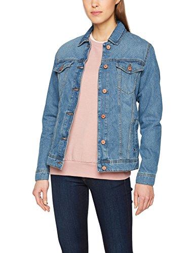 NOISY MAY Damen NMOLE L/S MED Jacket NOOS Jeansjacke, Blau (Medium Blue Denim Medium Blue Denim), 38 (Herstellergröße: M)