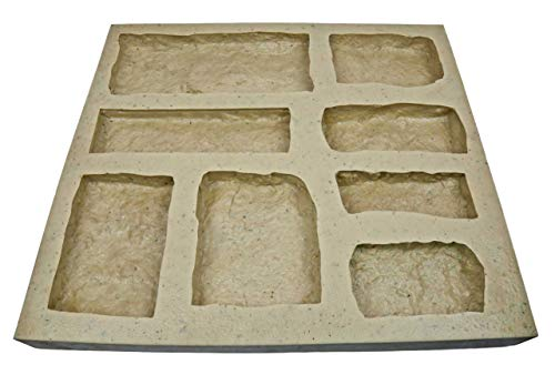 Veneer Stone Rubber Mold for Concrete or Plaster, Limestone Flats, 22.75x20.5, Version 5, Recycled Material