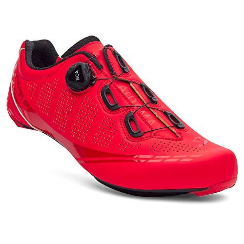 Spiuk Sportline Road Scarpe da Strada ALDAMA, Unisex - Adulto, Scarpa da Corsa Aldama, Rosso Opaco, 46 EU