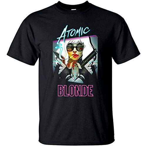 Tシャツ(BLACK)すべてがS-5XLのサイズアトミックブロンドV3、デヴィッド・リーチ、映画のポスター、,ブラック,5XL