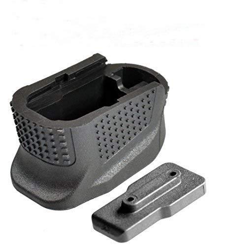 NO LOGO L-Yune, Enhanced Magazine Base Plate Plus Extension For 9mm 6rd Pistol +2-Round Glock 43 Extended Handgun Grip Gun Accessories (Color : Black)