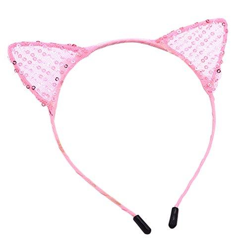 Westeng 1Pcs Mode Bandeau de Cheveux en Forme de Oreilles de Chat Dentelle Bandeau Serre-tête Accessoire pour Femmes