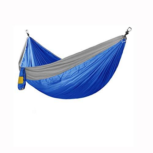 KOREY Hamaca Portátil De Nylon con Doble Refuerzo,Camping, Excursión,Ultranatura Hamaca,Hamaca Ultraligera para Camping,Ideal para Dormir Al Aire Libre,Azul,Verde,Rosa,Verde Claro (Color : Blue)