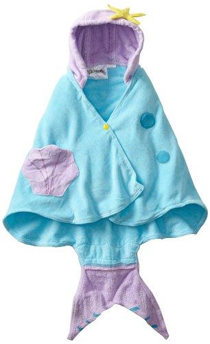 Price comparison product image Kidorable Girls' Mermaid Towel,  Blue,  Medium