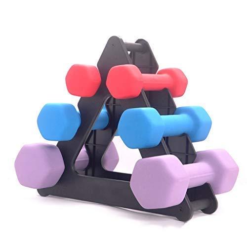 Hantelständer Nourich 3 Tier Tree Handgewichte Sets Squat Rack Hantelhalter für den Hausgebrauch 30 Pfund Langhantelständer für Heimgymnastikübungen (Dreieck)