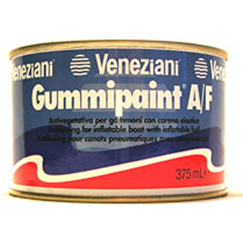 Veneziani Gummipaint Antifouling für Schlauchboote - schwarz, 375ml