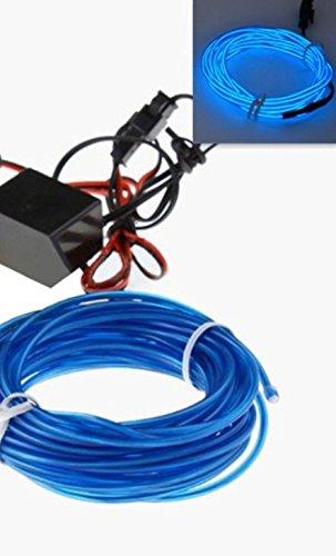 1x BLAU (2 Meter) EL - AMBIENTEBELEUCHTUNG 12V Inverter/Adapter Lichtleisten Strip Band Licht Ambiente Beleuchtung für moderner Innenraumbeleuchtung edle Optik - hallenwerk