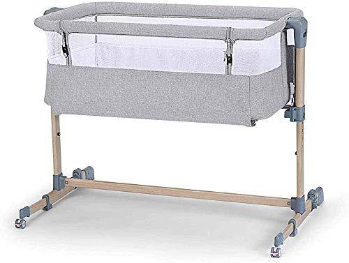 Ajustable, Plegable, Bebé 2 en 1 Cosquillas para bebé Cosquillas Grandes Cama Portátil Multifunción plegable,Grey Beige