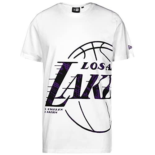 New Era Camiseta de Los Angeles Lakers NBA Oil Slick, blanco/negro, extra-small