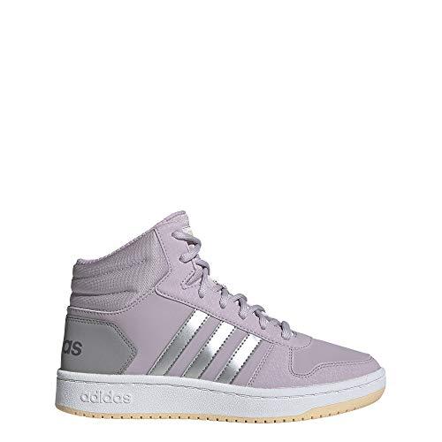 adidas Unisex-Kinder Hoops Mid 2.0 K Basketballschuhe, Mehrfarbig (Malva/Plamat/Grasua 000), 36 EU