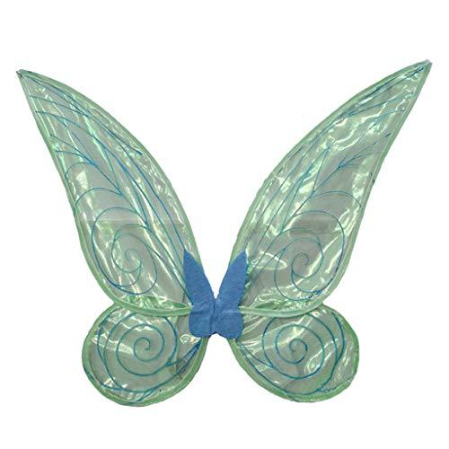 Abbraccia Asa de fada de borboleta brilhante para crianças adultas, pode mudar de cor, design de glitter e faixa de borracha na parte de trás – Adulto