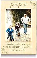 Porta foto personalizado Día del Padre, con iman o pie, regalo papá