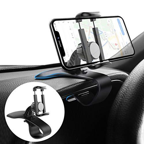 スマホスタンド 片手操作 車載ホルダー 360度回転 ダッシュボード・デスクにも適用 スマホ車載ホルダー クリップ式 車 携帯ホルダー iPhone Android スマホホルダー 自由調節/安定性 着脱簡単 取り付け簡単(4-6.5インチ) インチスマホ