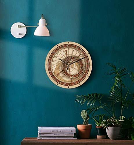 XUEJIAN Prager Hölzerne Astronomische Uhr