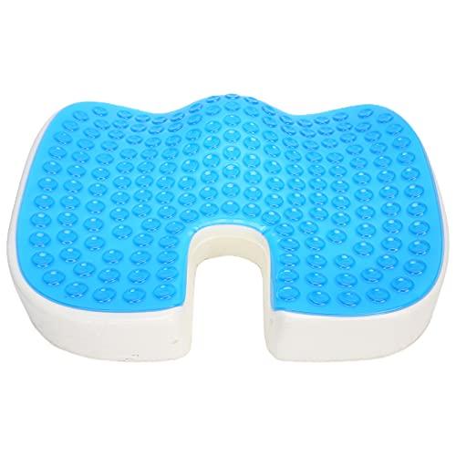 Cojín de gel en forma de U, diseño hueco de vértebras anales y caudal, cómodo cojín de gel suave flexible para silla de ruedas
