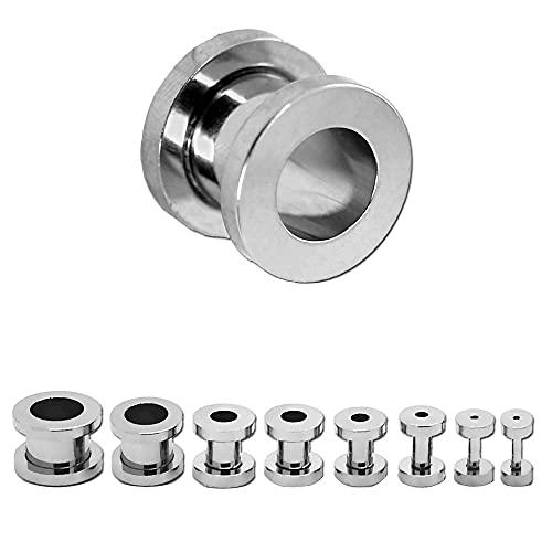 Tumundo Flesh Tunnel Estensore Plug Taper Piercing (Set di 8 o 16 pezzi) Dilatatore Acrilico Acciaio Orecchio, variant:Variante 7