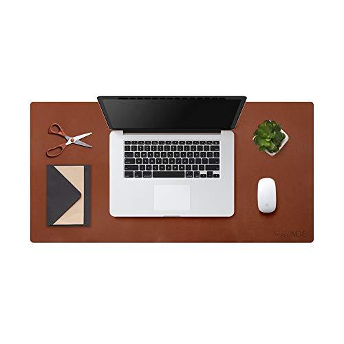 Sottomano da scrivania in gomma naturale SenseAGE ECO, tappetino per mouse in pelle, tappetino da scrivania antiscivolo, tappetino da scrittura per laptop impermeabile, 31,5 'x 15,8', marrone