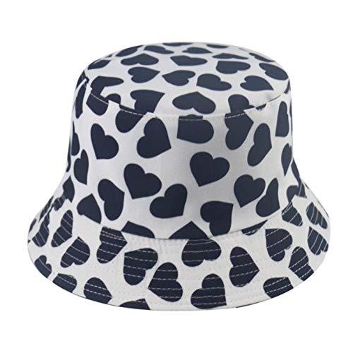 Bucket Hat Chapeau Hommes Noir Blanc Couleur Star Eye Graffiti Fisherman Hat Hommes Bucket Chapeaux Hip Hop F