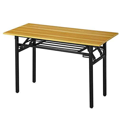 LILIJIA Klappbarer Laptop-Tisch, Verbundholzbrett Aus Studententisch Mit Verstellbaren Beinen Für Die Home-Office-Schule Muss Zusammengebaut Werden,80 * 50 * 75