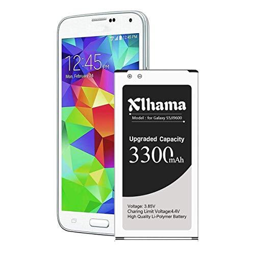 Xlhama - Batteria interna sostitutiva compatibile con Samsung Galaxy S5 2910 mAh, conforme alla EB-BG900BBE EB-BG900 agli ioni di litio del Galaxy S5 modello SM-G900F senza NFC