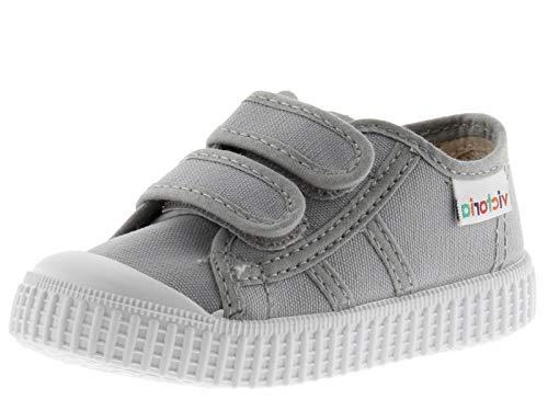 victoria unisex barn korg Lona Dos Velcros sneaker, Grå zink - 22 EU