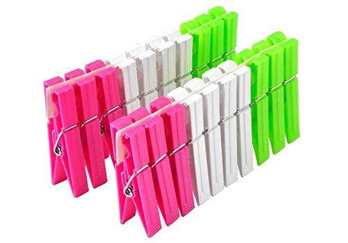 H&H Pengo 3960700 Confezione 20 Molle Biancheria Plastica Bang Piccola, Multicolore, 15x8x4 cm, unità