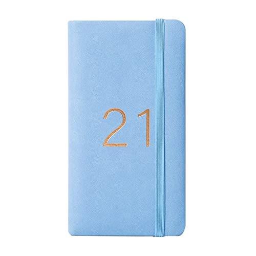 XJS Paperage A6 Diario Semanal Cuaderno de Notas mensuales y Diario 365 Día Cuaderno Cuaderno de Diario (Color : BL, tamaño : A6)