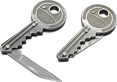 geddid Schlüsselanhänger Messer Schlüssel Schlüsselmesser kleines Taschenmesser in Schlüsselform Brieföffner Paketmesser (1)