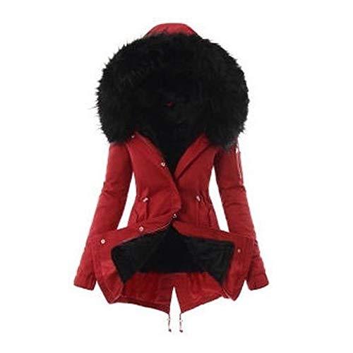 Vertvie Wintermantel voor dames, winterparka, winterjas, met lange mouwen, voor binnen en buiten, met trekkoord, herfst en winter