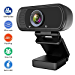 1080P Webcam, Hrayzan Live Streaming Computer Web Camera with Stereo Microphone, Desktop or Laptop USB Webcam with 110-Degree View Angle, HD Webcam for Video Calling Recording Conferencing (Renewed)